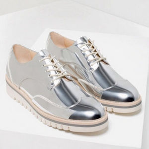 Zara Metallic Silver Shoe